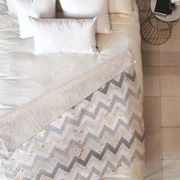 Iveta Abolina Chevron Confetti Fleece Throw Blanket