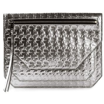 Karl Lagerfeld Logo Embossed Clutch Bag