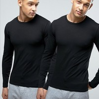 Polo Ralph Lauren 2 Pack Stretch Cotton Long Sleeve Tops at asos.com