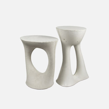 Pair of Kreten Side Tables - Grey