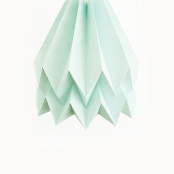 Plain Mint Blue | with Cord Set | Handmade Origami Lighting | FREE SHIPPING