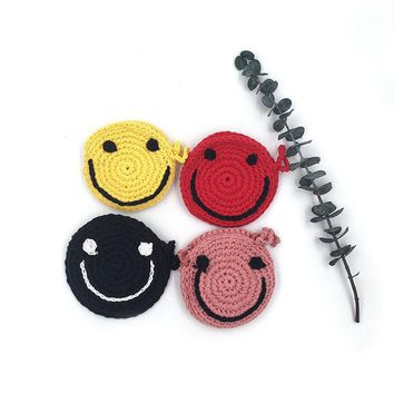 Raged Sheep Baby Smiling Face Coin Purse Change Wallet Girls Cotton knitting Bag Coin Pouch Children Wallet Money Holder