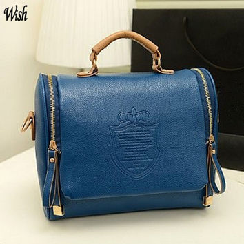 Girls Women Leather Shoulder Bag Handbag Crossbody Bags Totes (bag Size: 27cm x 17cm x 24cm) = 1843094020