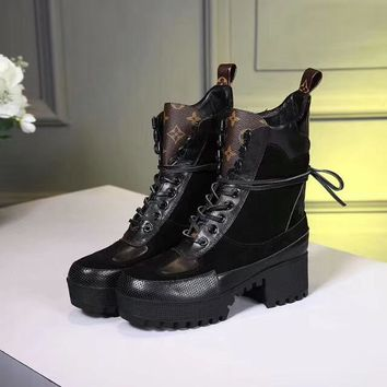 Louis Vuitton LV Women Fashion Casual Punk Boots Shoes