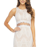 Mckayla Dress - Nude&White