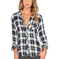 Hunter Button Down in Midnight & Forest