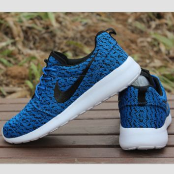 NIKE ROCHE YEEZY Fashion Running Sport Casual Shoes Sneakers Blue