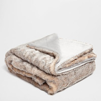 Gray Fur Blanket - Throws - Bedroom | Zara Home United States
