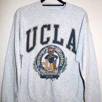 BeWorn — Vintage Grey UCLA College Jumper