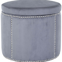 Martin Grey Nailhead Round Storage