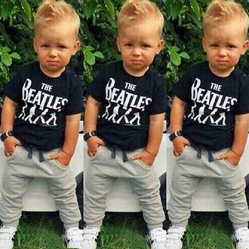 BCS177 Summer Kids Clothes Sets Short Sleeve Boy T-shirt Pants Suit Clothing Set Newborn Sport Suits Children Baby Boy Clothes