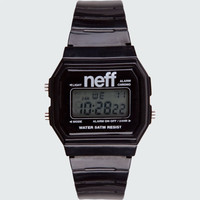 Neff Flava Digital Watch Black One Size For Men 18060610001