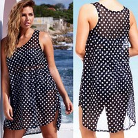 Polka Dot Beach Babe Cover up