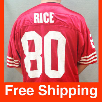 Vintage Jersey, Football, Jerry Rice Jersey, San Francisco 49ers, NFL, Wilson, Size Adult XXL