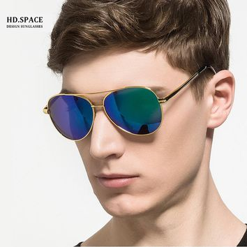 HD.space men polarized sunglasses gafas de sol hombre oculos de sol masculino sun glasses for men Pilot style sunglasses men