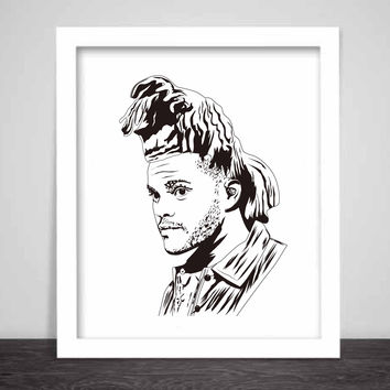 The Weeknd XO Art Poster (3 sizes) // madness beauty abel ovo toronto drake