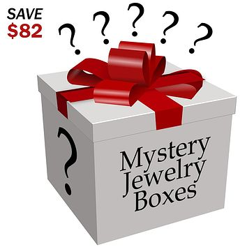 Evelots Jewelry Mystery Surprise Box, 7 Piece Set - Save 82 Dollars