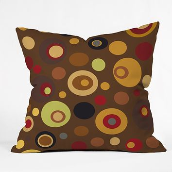 Viviana Gonzalez Vintage Colorplay 3 Throw Pillow