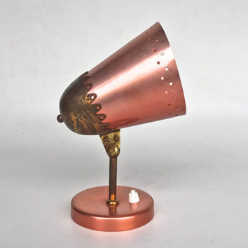 Vintage Wall Lamp / Sconce / Stilnovo Style / Mid Century Italy / Pink / Brass