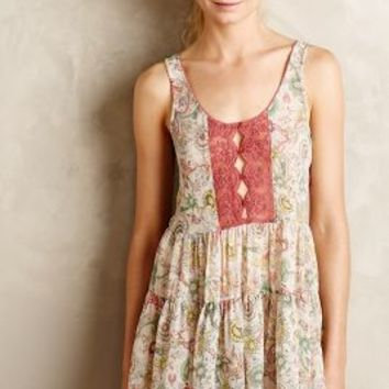 Carina Paisley Chemise by Anthropologie Rose