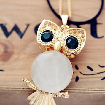 womens unique owl necklace gift 34