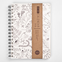 2015 Year Weekly Planner Calendar Diary Day Spiral A5 Botanical Herbs This Day Planner - BEST Christmas GIFT!