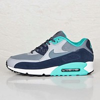 NIKE AIR MAX 90 Nike fashion ladies men running sports shoes sneakers F-PS-XSDZBSH Navy blue + lake blue