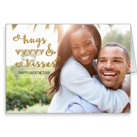 Hugs and Kisses Valentin's Day|Photo Greeting Card