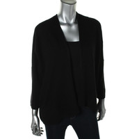 Charter Club Womens Cashmere Open Front Cardigan Sweater
