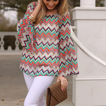 Missoni Bell Top, Orange-Jade