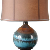 "0-012083>28""h Padula 1-Light Table Lamp Blue/Gray/Rust/Black"