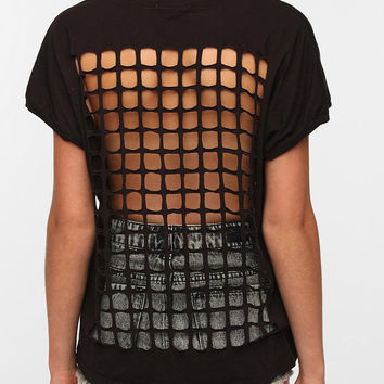 Urban Outfitters - Truly Madly Deeply Grid-Back Tee