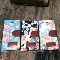 iPhone 5 Case - iPhone 5 Wallet - Floral iPhone 5 Case - iPhone 5 Wallet Case - iPhone 5S Floral Case Wallet - iPhone 5 Flip Case Leather
