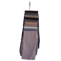 Evelots® Over The Door Cascading Pants Hanger Space Saver & Organizer All In One