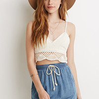 Drawstring Chambray Skirt