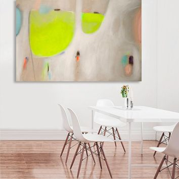 Large abstract art, green abstract, art on canvas, large wall art, contemporary art by Camilo Mattis