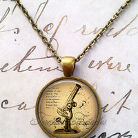 Science Necklace, Microscope, Biology, Anatomy, Entomology, Big Bang T534