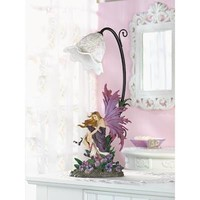 Gorgeous Orchid Fairy Table Lamp