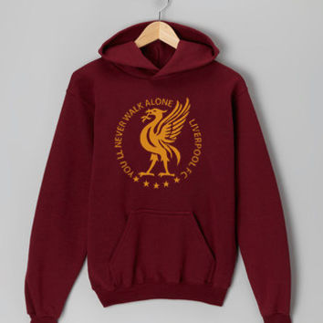 You'll Never Walk Alone Liverpool maroon hoodie for men and women