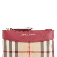 Burberry 'Putney' Horseferry Check Canvas Pouch | Nordstrom