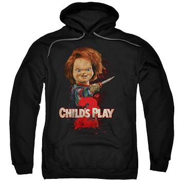 Childs Play 2 - Heres Chucky Adult Pull Over Hoodie