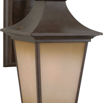 "0-029572>21""h Argent 1-Light Outdoor Wall Aged Bronze"