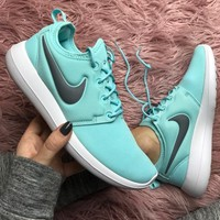 Nike roshe two Tiffany blue Shoes Sneakers