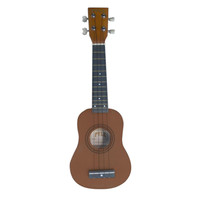 Pyle 21'' Soprano Ukelele With Bag, Picks (Maple-Brown Color)