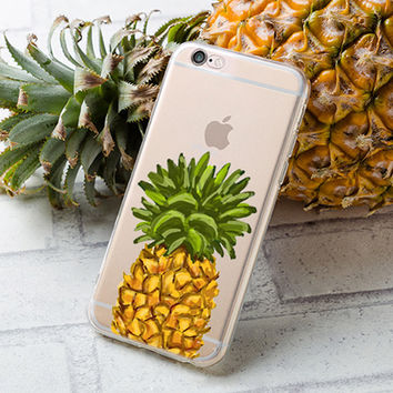 Watercolor Pineapple iphone case