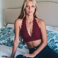 Barcelona Lace Gallon Halter Bralette (+ Colors)