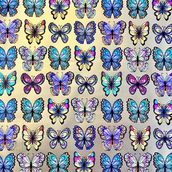 Bulk Ream Roll Any-Occassion Gift Wrap Wrapping Paper, Butterflies CLOSEOUT