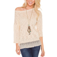Life Of Luxury Lace Sweater - Ivory