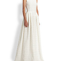 Alexander McQueen - Floral Jacquard Gown - Saks Fifth Avenue Mobile