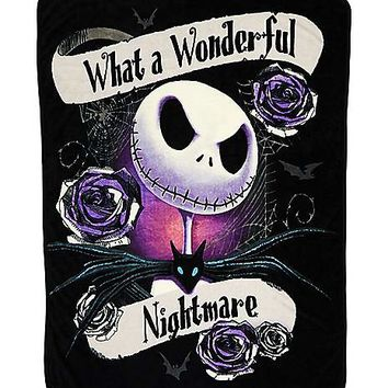 Wonderful Nightmare Fleece Blanket - Nightmare Before Christmas - Spirithalloween.com